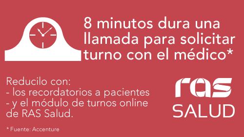 8 minutos dura la llamada de turnos - RAS Salud