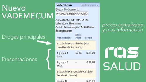 Nuevo Vademecum RAS Salud
